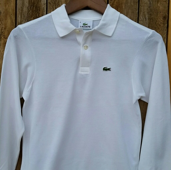 dc56ef4e0 Lacoste Shirts & Tops | Boys Long Sleeve Classic Solid Pique Polo ...
